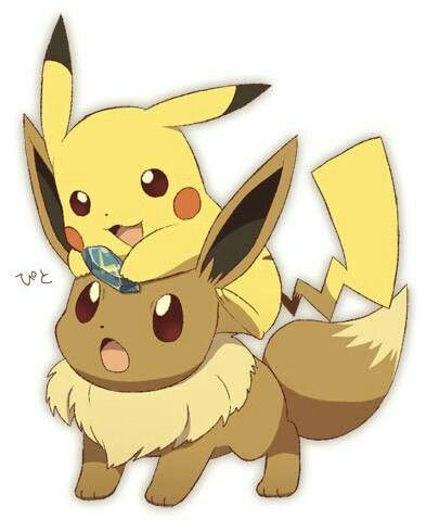 Eevee Pikachu Dessin Pikachu Visages Kawaii Pokemon Evoli