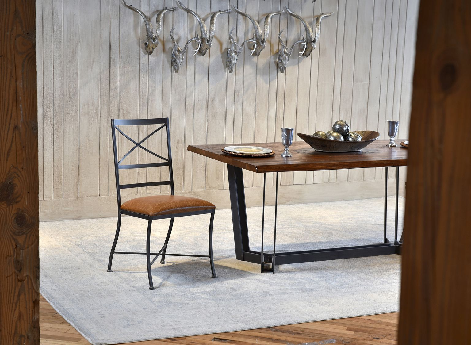 Hand Forged Live Edge Dining Table Made In Usa By Charleston