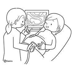 Resultado de imagen para como dibujar personas embarazadas en parto