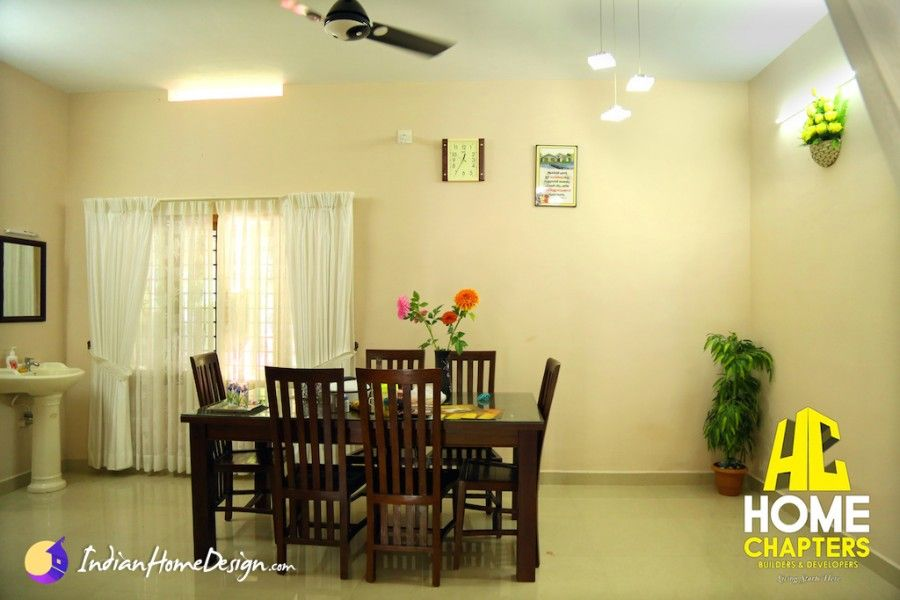 Photos of Kerala Home Living and Dining Room Interiors by Home