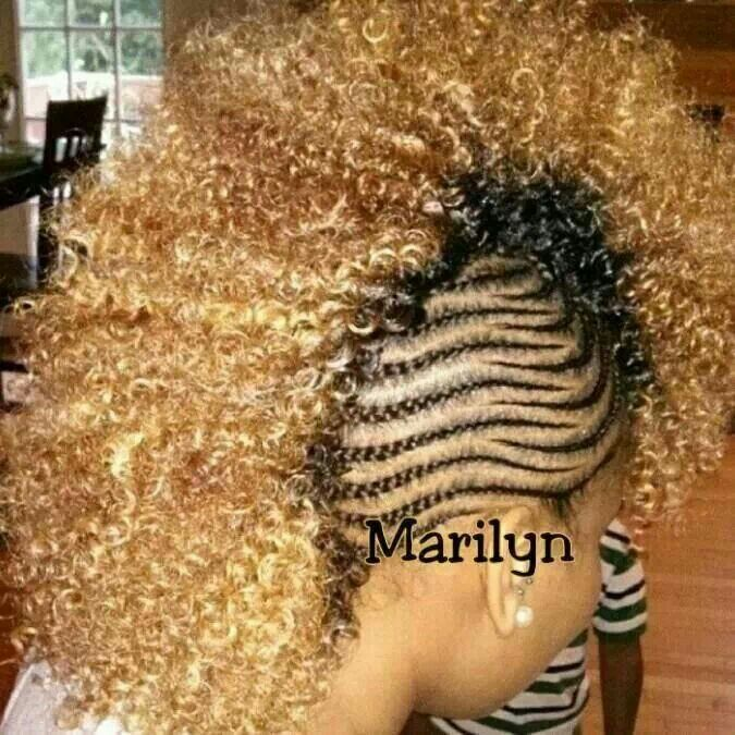 FALLON MAYBE ME Blonde Curly Natural Hair Braided Mohawk Hairstyles Bold And Beautiful Black Women