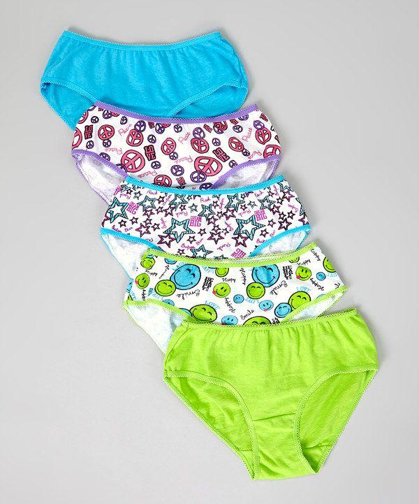 Look at this #zulilyfind! René Rofé Aqua & Lime Peace Underwear Set - Toddler by René Rofé #zulilyfinds