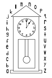 2 free printable clocks for Hickory Dickory Dock, one for number