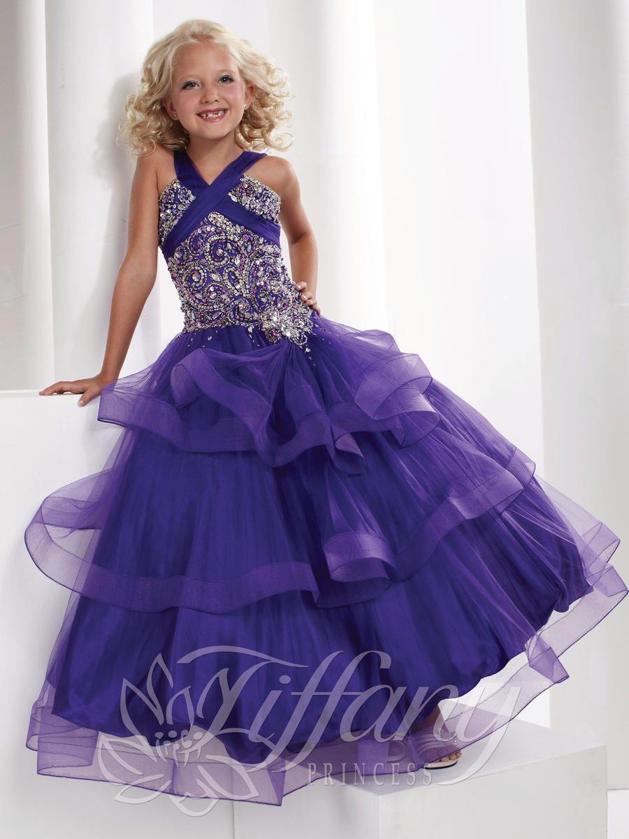 Girls Pageant Dresses by Tiffany Princess 13327 | Nam | Pinterest ...
