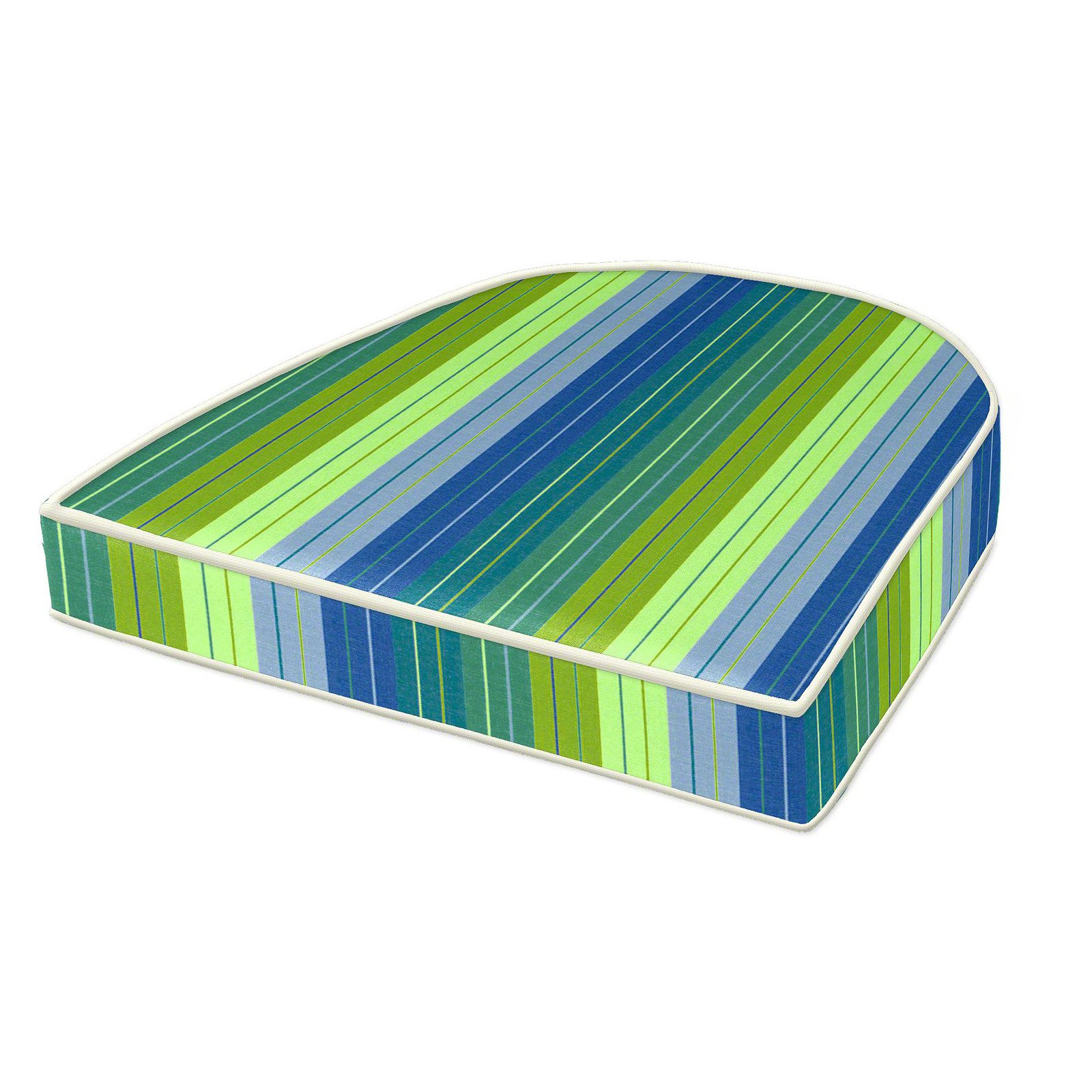 Cushion Source 18 X 16 In Striped Rounded Back Sunbrella Chair