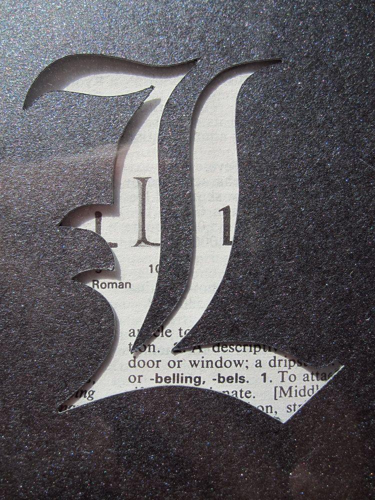 Death Note L Symbol Custom Cut Bookmark Anime Pinterest