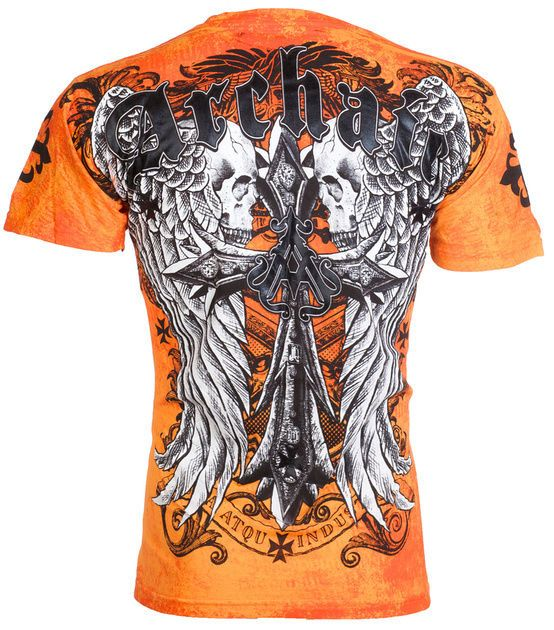 Affliction/ Archaic Men T-Shirt People Biker MMA UFC American Fighter