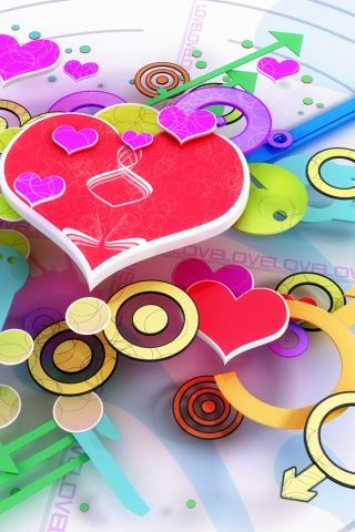 Download Colorful Love Wallpapers To Your Cell Phone