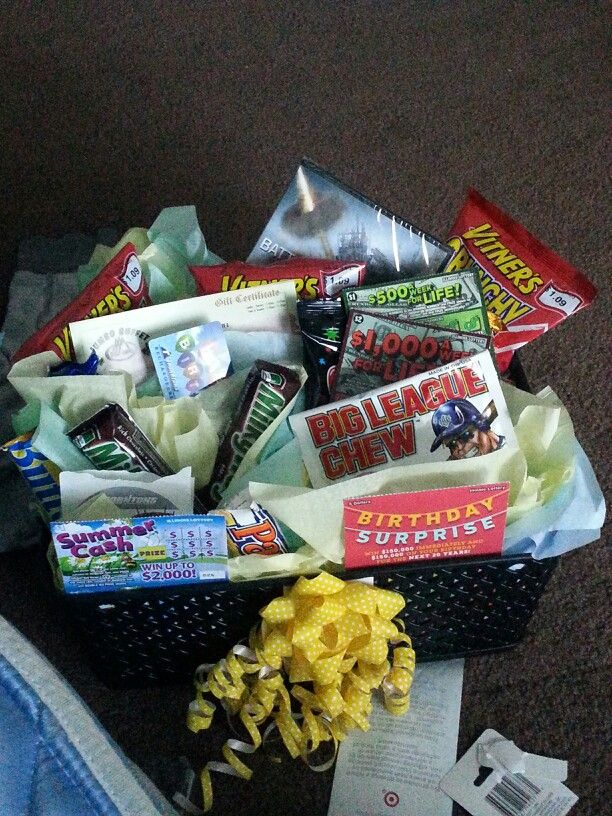 Boyfriends gift basket gift cardsndyvieips and a gift basket for your guy simple and fun negle Choice Image