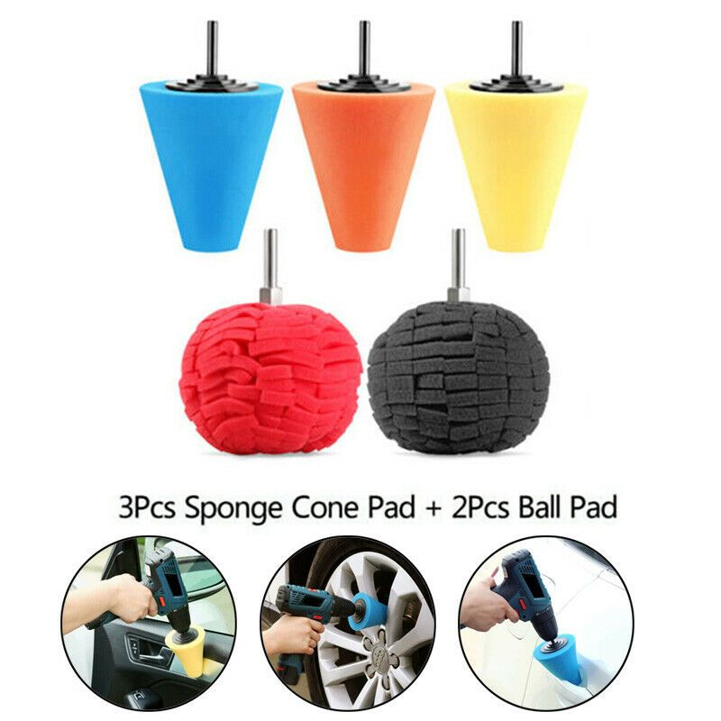 Ebay Advertisement Burnishing Buffing Pad Foam Sponge Cone Shaped Wheel Hub Tool Buff Automotive Buffing Pads Automotive Detailing Fit Car
