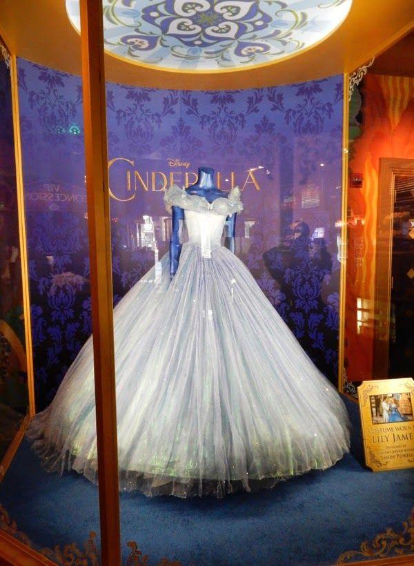 Original Cinderella movie ball gown El Capitan Theatre exhibit ...
