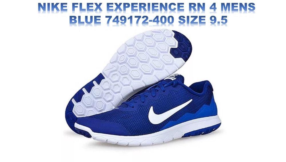 NIKE FLEX EXPERIENCE RN 4 MENS RUNNING SHOES BLUE 749172-400 SIZE 9.5  Nike   RunningCrossTraining a07e70c010