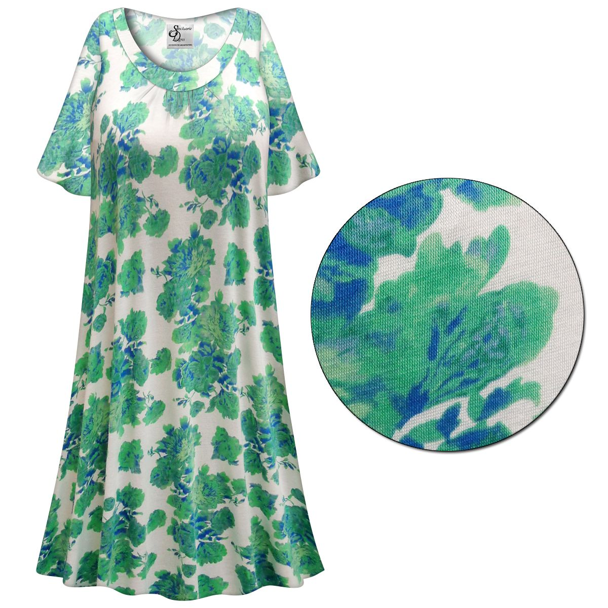 Customizable Green Roses Print Plus Size & SuperSize Muumuu - Moo ...