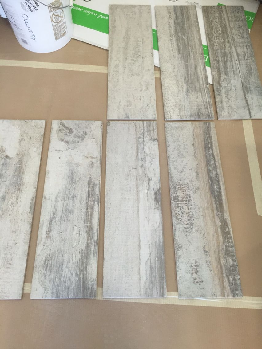 Bathrooms and Laundry room flooring. We chose the Origen Miel ...