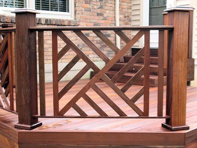 Chippendale railing love! in 2019 Deck railing design