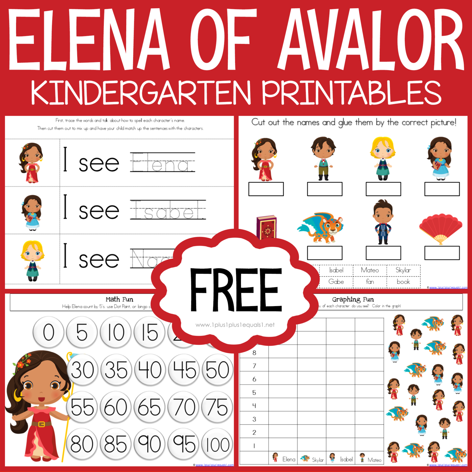 Free Elena Of Avalor Kindergarten Printables Loads Of