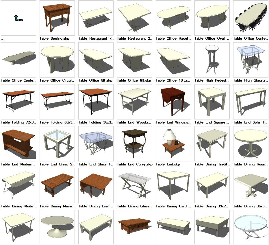Free Software For You Free Download Sweet Home 3d: Sketchup Table 3D Models Download – CAD Design