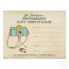 Photographer gifts google search gift ideas photographers shop photographer photography gift certificate template created by pipgerard yelopaper Gallery