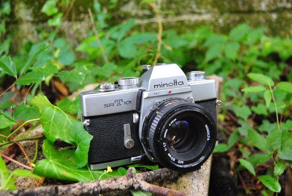 Working Minolta srT 101 SLR Camera 50mm by AmericanProspecting, $50.00