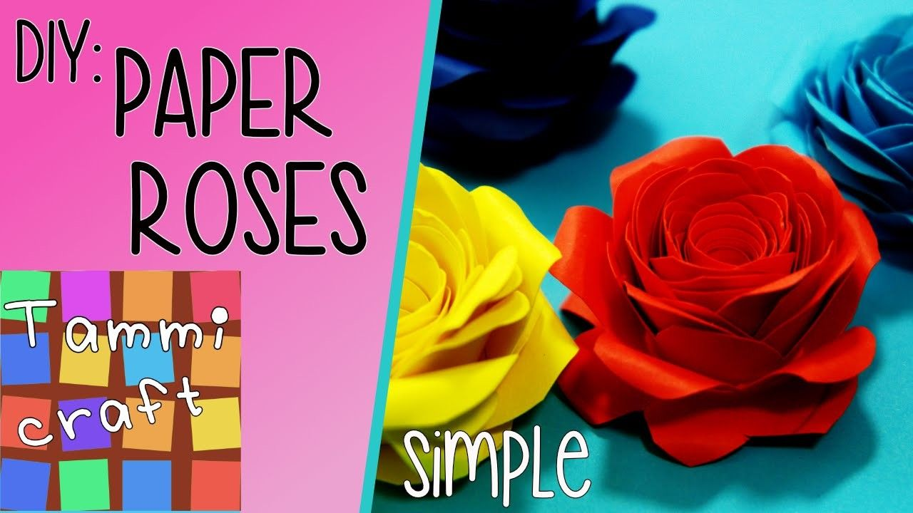 Diy how to make a beautiful paper rose tutorial tammi craft diy how to make a beautiful paper rose tutorial tammi craft izmirmasajfo