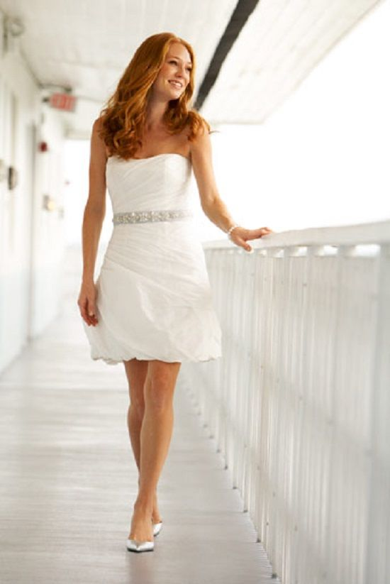Short White Wedding Dresses With Sash Women Dress Ideas Bridal Shower