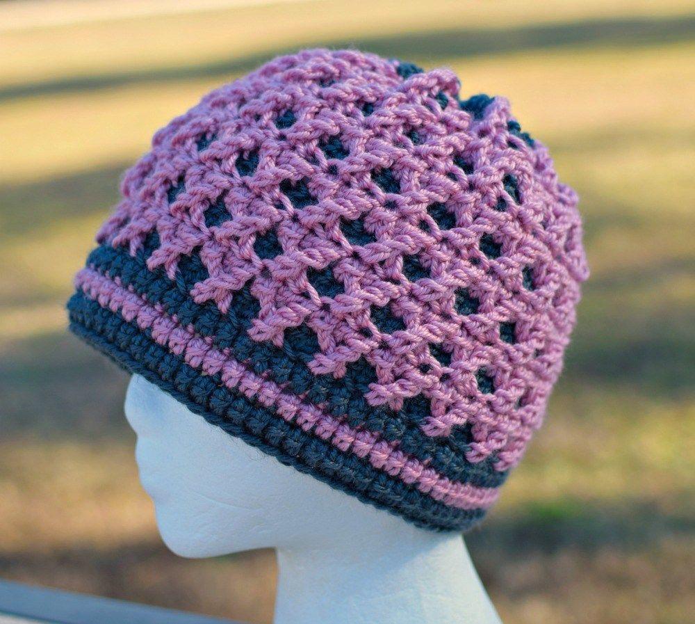 18acaa8beb9 Rose s Crossing Beanie by ELK Studio - A Free Crochet Pattern ~   FreeCrochetPattern