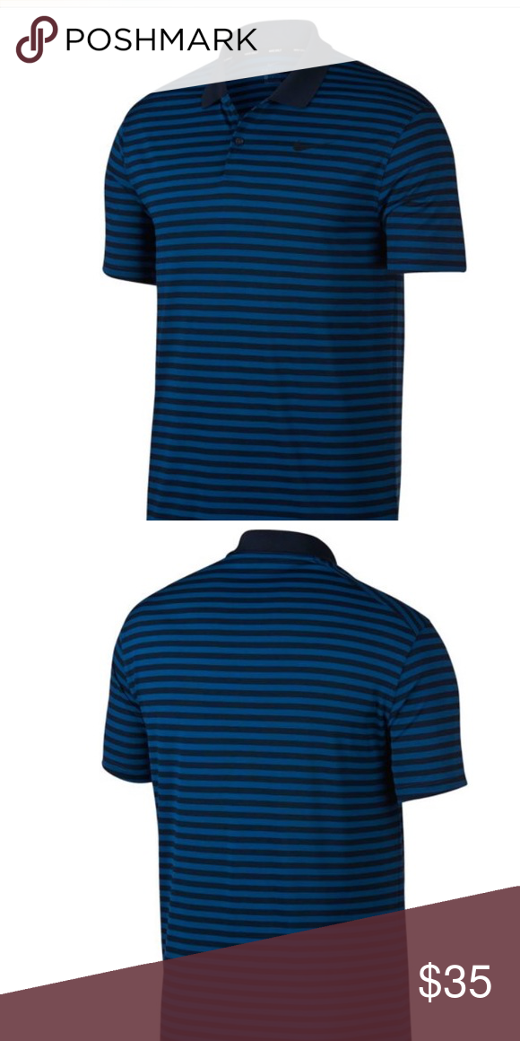 bf338842 Nike Men's Striped Dry Victory Golf Polo DRI-FIT technology Standard fit Nike  Shirts Polos