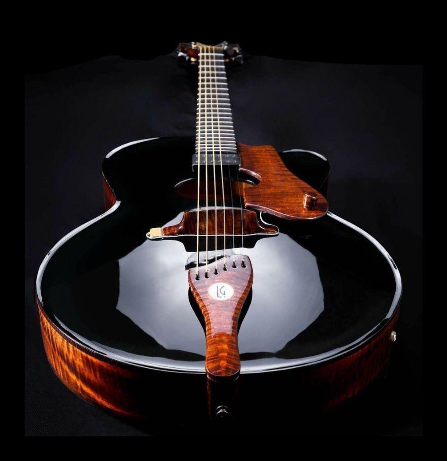 de la garza archtop guitar guitars archtop guitar acoustic guitar jazz guitar. Black Bedroom Furniture Sets. Home Design Ideas