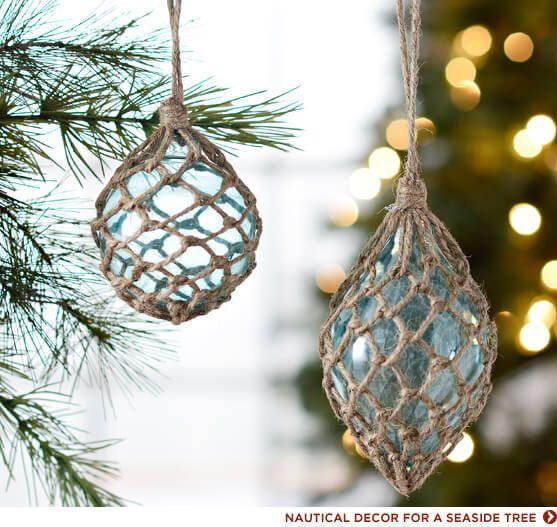 NAUTICAL DECOR FOR A SEASIDE TREE Weaving and Handwork Pinterest - coastal christmas decorations