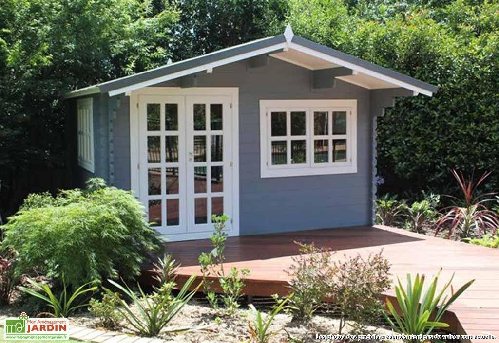 Abri de jardin bois wales 399x299x270 34 mm gardens for Cabane jardin pvc