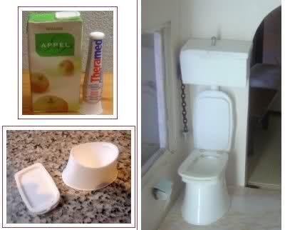 Wie macht man eine Miniatur-Toilette mit zwei Steckern? #miniaturedolls