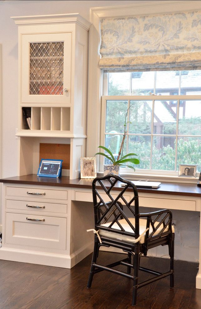 Kitchen Desk. The homeowner has views of the yard from her ...