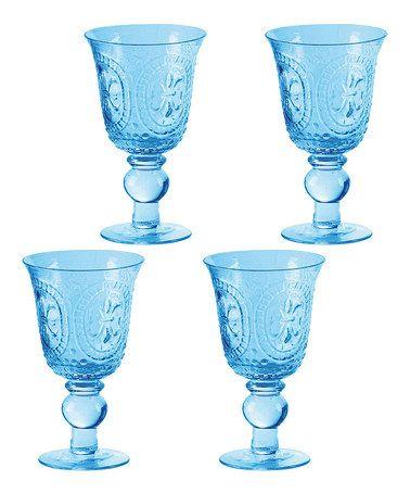 Loving This Blue Renaissance Goblet Set Of Four On
