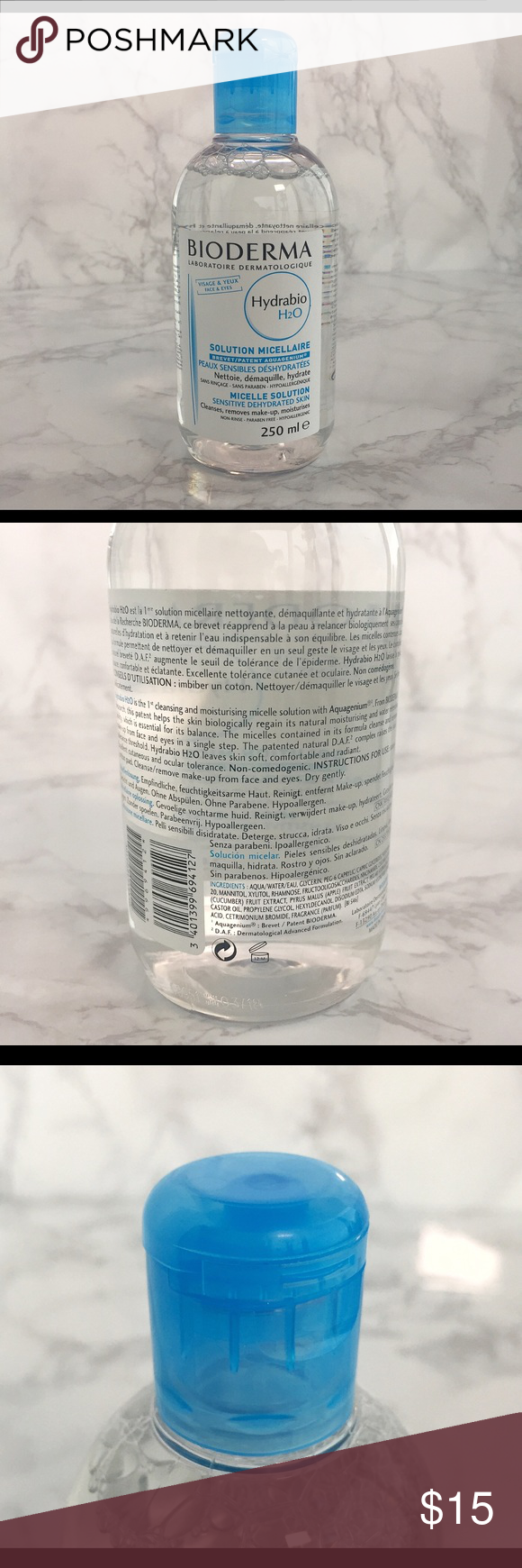 NWT Bioderma Hydrabio H20 Micellar Water 250ml Bioderma