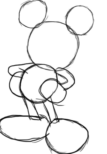 How to Draw Mickey Mouse | Ejercicios de dibujo, Formas basicas y ...