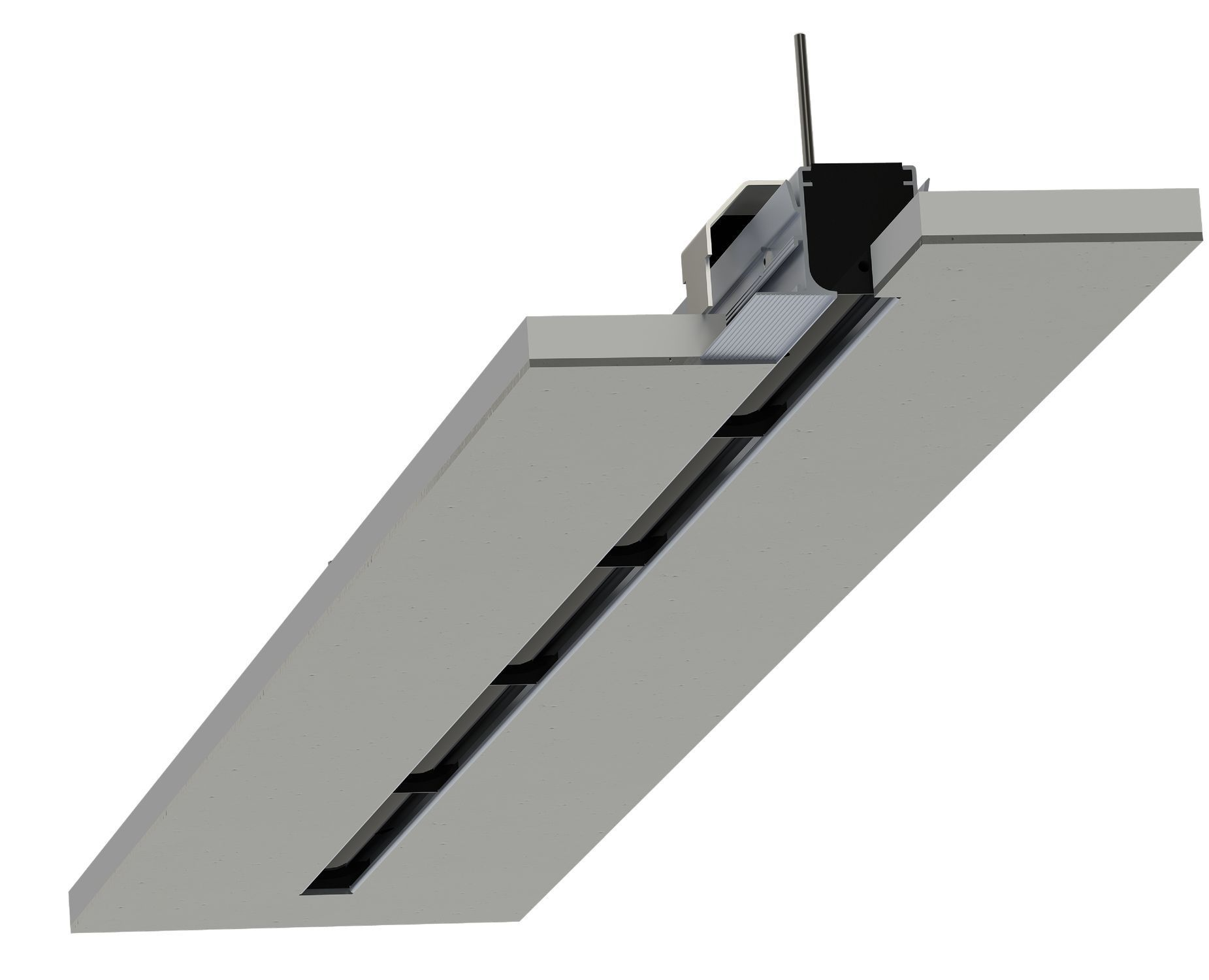 Linear Slot Diffuser 4 : Ceiling air diffuser linear slot dsc plaster schako