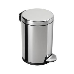 Simplehuman, 4.5 Liter Polished Stainless Steel Mini Round Step Trash Can,  CW1851 At