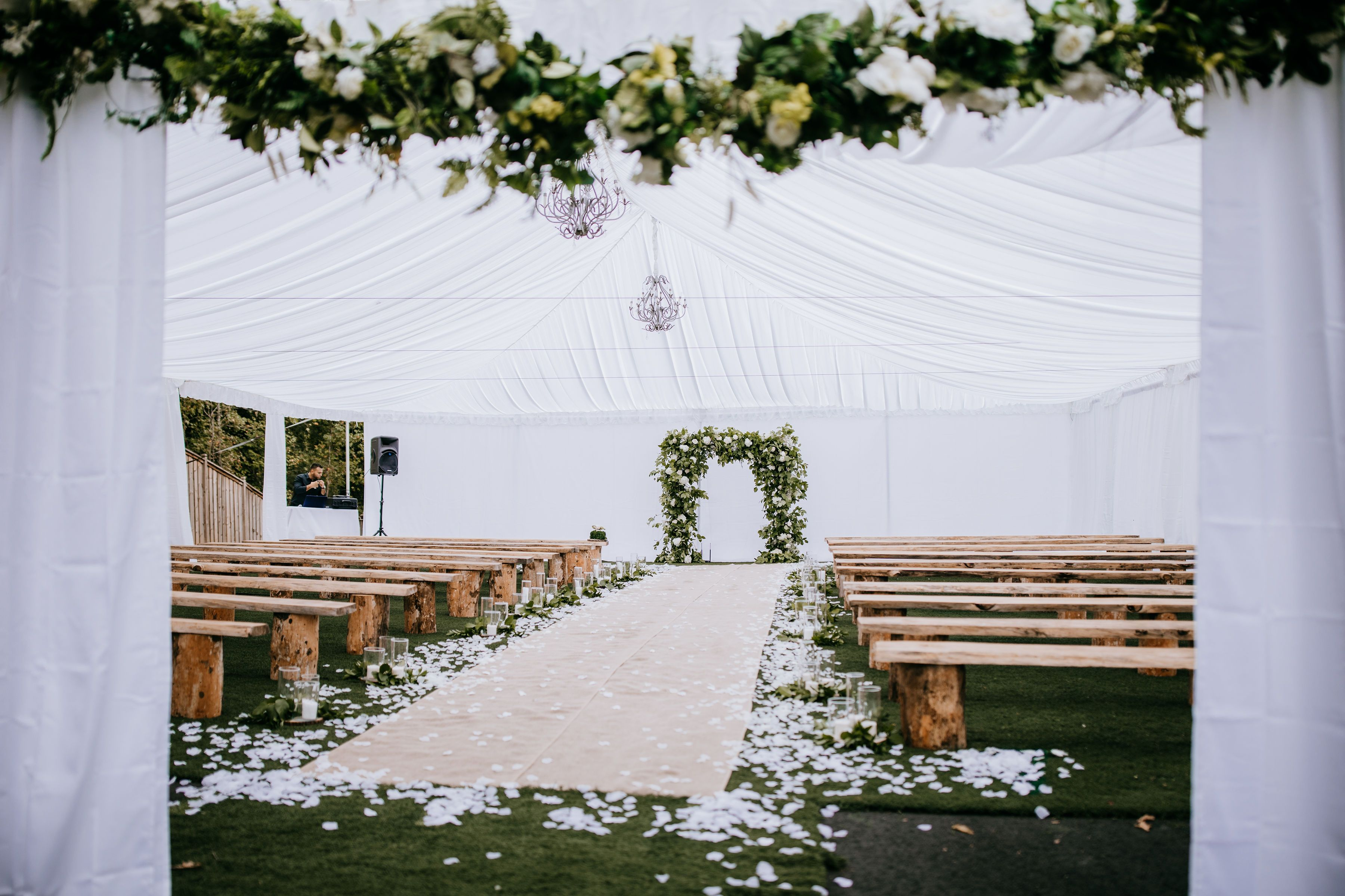 Alpharetta Parking Lot Turned Into A Beautiful Wedding Ceremony Wedding Ceremony Beautiful Weddings Wedding