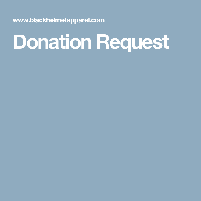 Donation Request