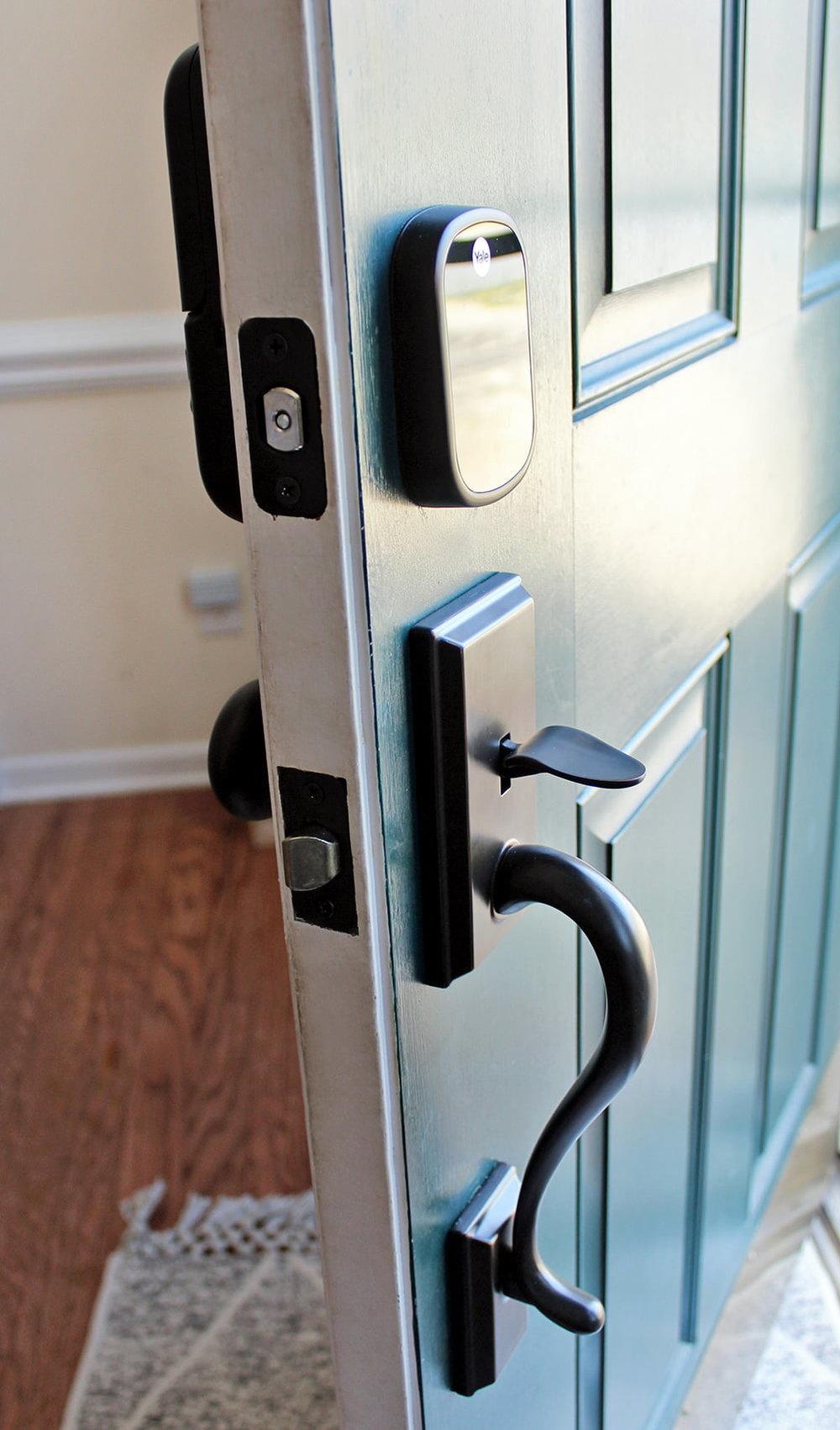 Why We Installed An Electronic Keyless Door Lock Tag Tibby Design Smart Door Locks Keyless Door Lock Fingerprint Door Lock