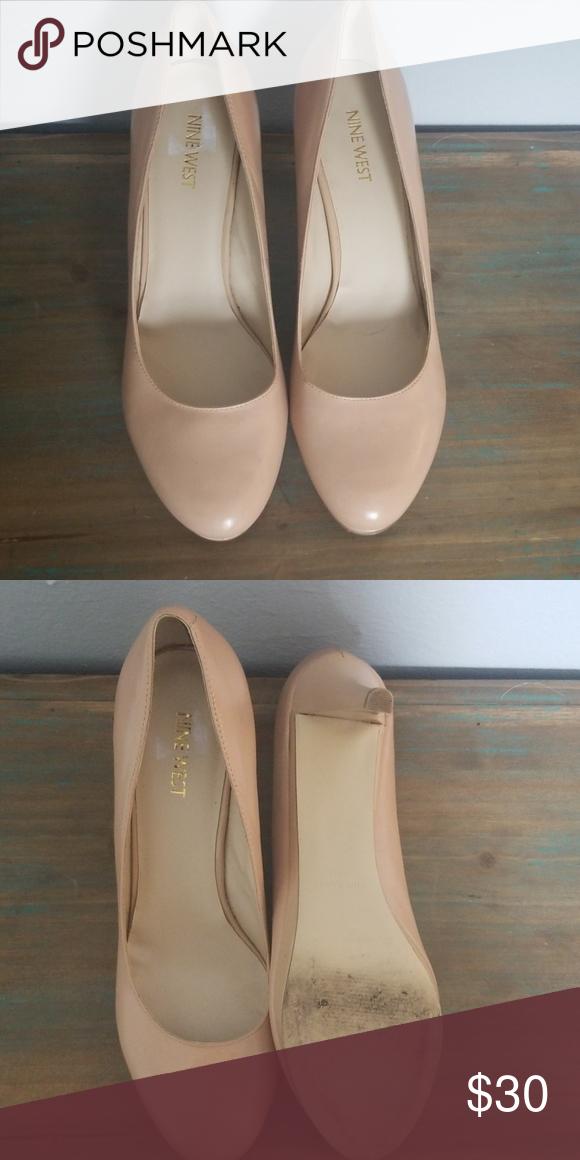 Nine west heels, Heels, Beige heels
