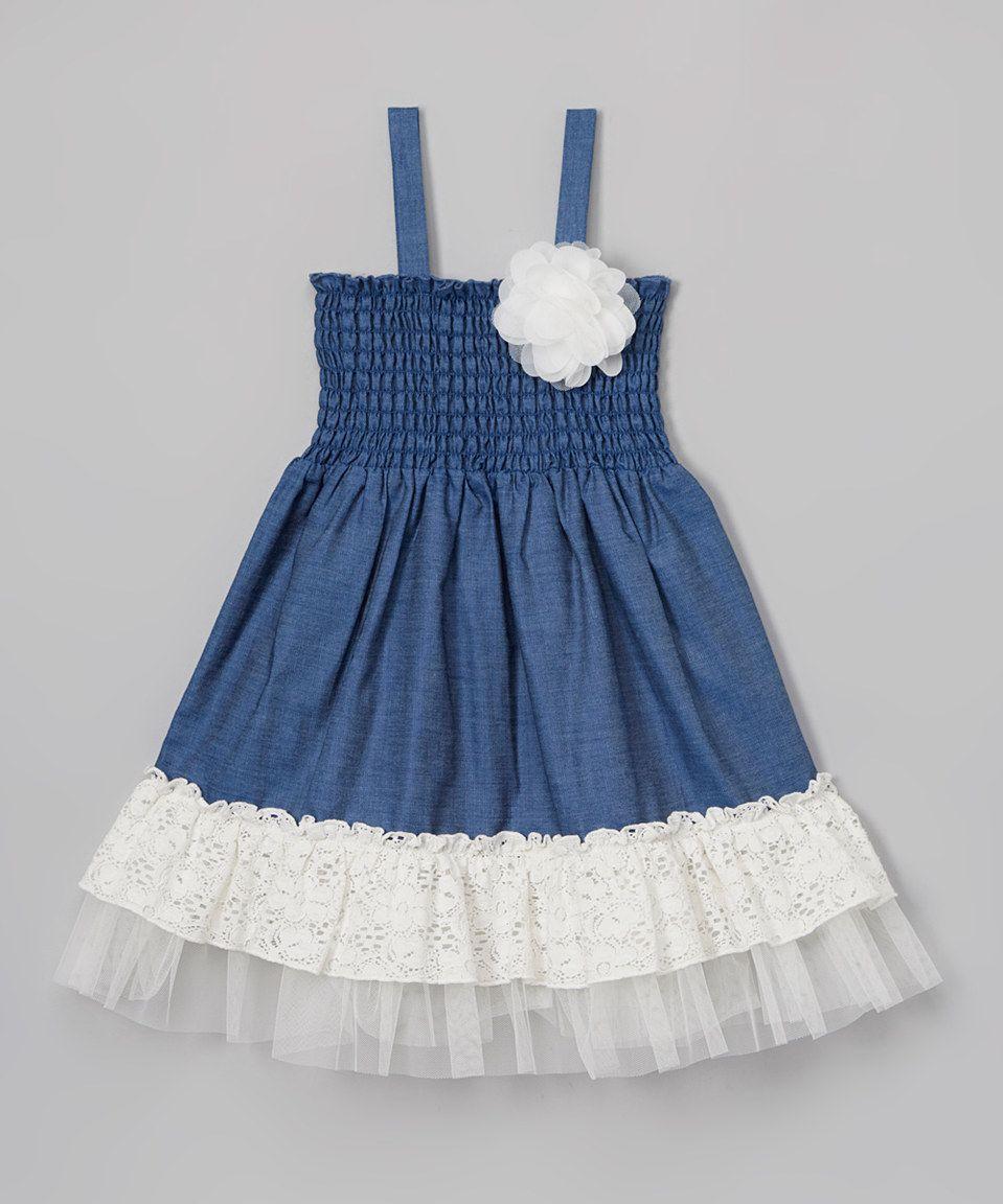 0400a57343 Another great find on  zulily! Zunie Denim   Ivory Lace Flower Dress - Kids  by Zunie  zulilyfinds