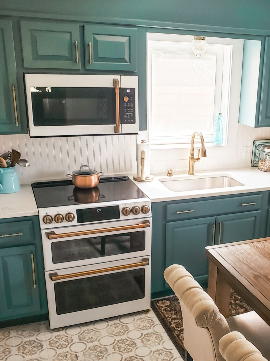 Best Cabinet Color Is Sherwin Williams Riverway Sw6222 400 x 300