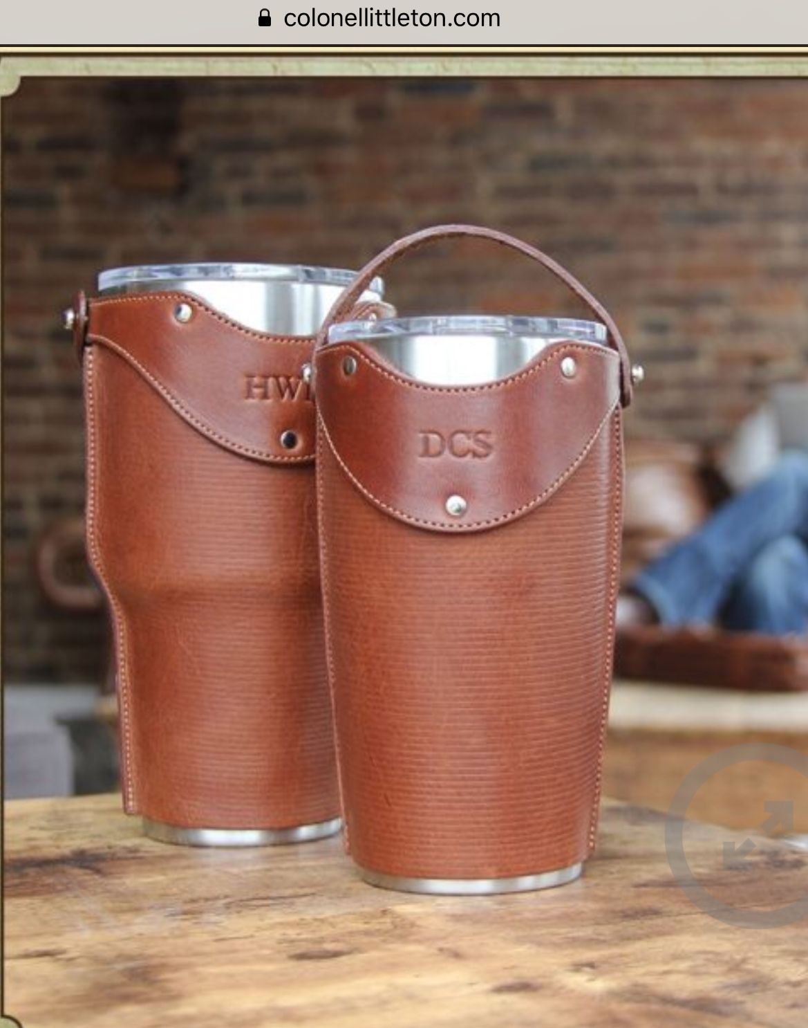50 yeti cup cover from Colonel Littleton Leather 가죽, 가죽