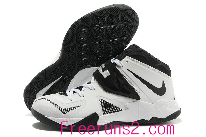 huge discount adbfb 44804 Western union  20 discount for Half off Nike Zoom Lebron Soldier 7 Sample  Simple White Black Metallic Silver 599264 003 Cheap Lebron Shoes
