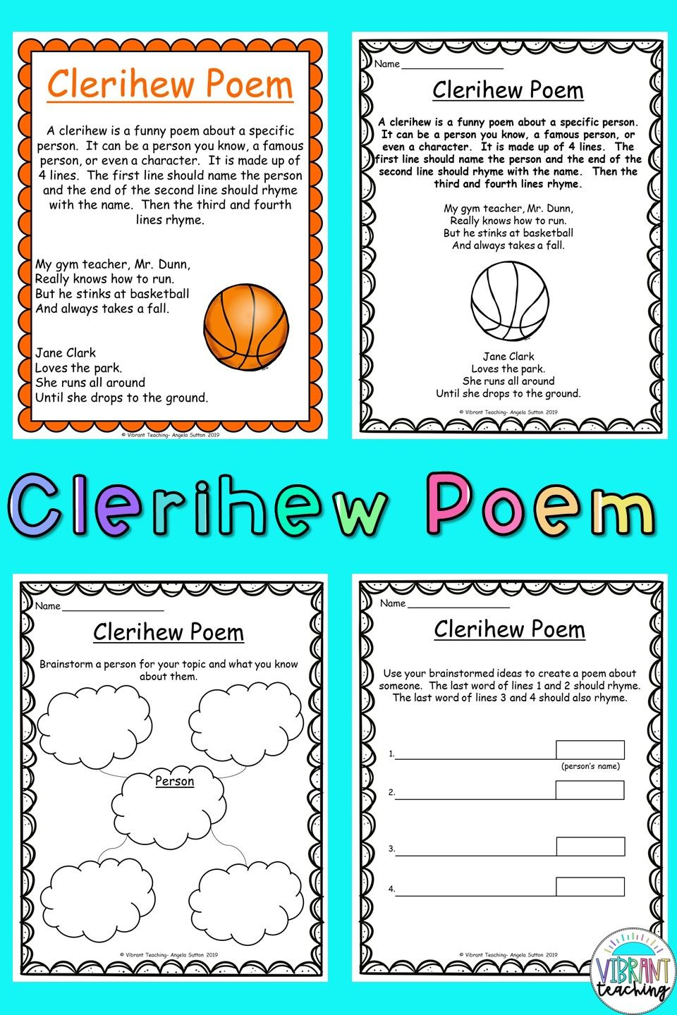 Clerihew Poem For Kids In 2020 Poetry For Kids Poem Activities Poetry Books For Kids