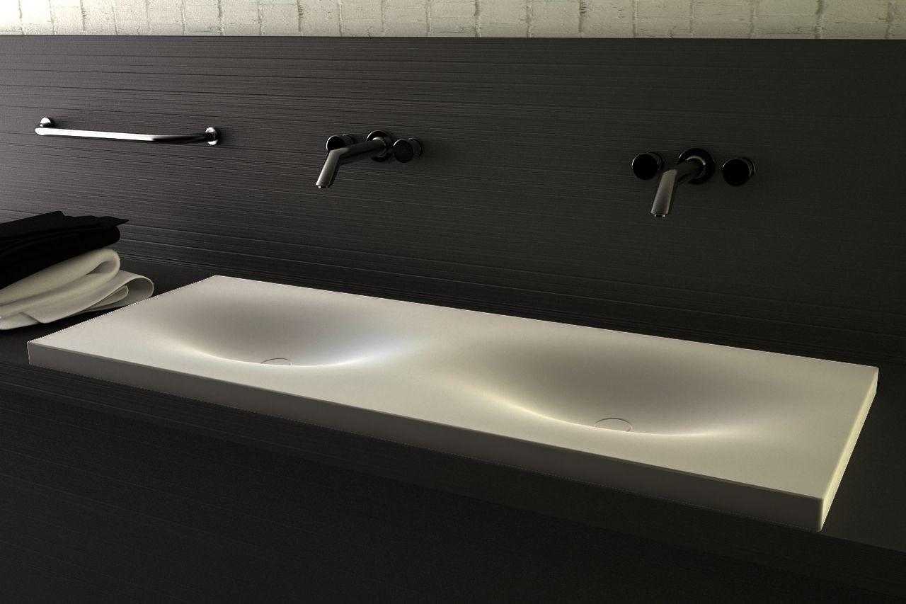 Soft Edge Modern Sink Black And White Wash Basin Sink Bathroom Furniture Design
