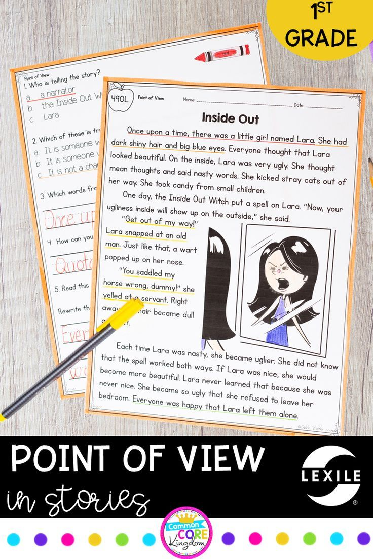 Point of View RL1.6 Reading comprehension passages