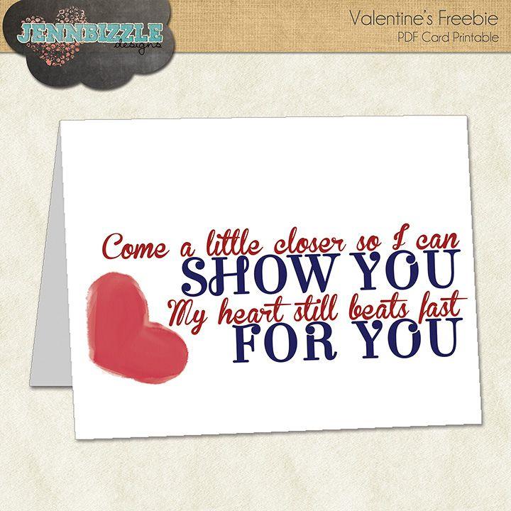 valentine's card freebie  jennbizzle valentine card