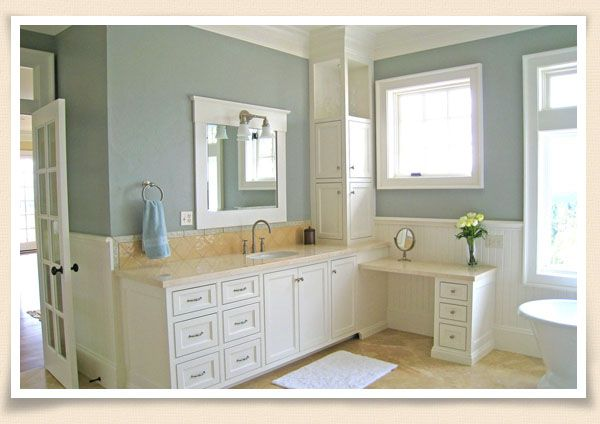 Possible Paint To Go With Our Blah Almond Bathroom Tiles Yellow Bathroom Decor Bathroom Wall Colors Traditional Bathroom